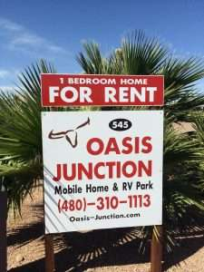 About Oasis Junction Mobile Home RV Park