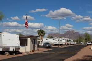 Winter RV Space Rentals Apache Junction AZ